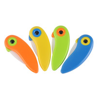 Wholesale Bird Ceramic Knife Gift Knife Pocket Ceramic Folding Knives Kitchen Fruit Paring Knife With Colourful ABS Handle Cutting Paring Mini Knives