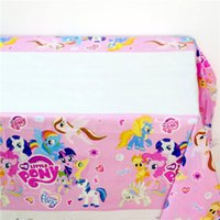 baby birthday themes - My Little Pony Kids Favors Tablecover Cartoon Theme Birthday Party Decoration Supplies Tablecloth Happy Baby Shower cm