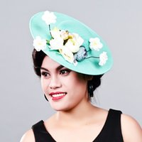 8bf450c3e3b Women Fancy Feather big size beauty Fascinator Headwear Wedding Hats and  Fascinators White Net Hair Accessories for Bridal Woman MD16008