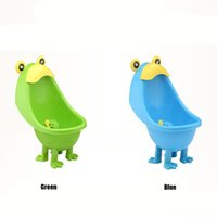 Wholesale EMS Free PP Frog Children Stand Urinal Boys Potty Training Toilet Hang On Wall Urinary Baby Urinal