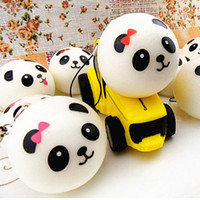 OPP bag keychain Rubber hot selling Jumbo Panda Squishy Bread Semll Charm Bun Cell Phone Strap Pendant Wrist Rest key chain for friend birthday gift