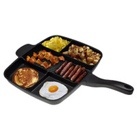 Wholesale Magic Pan Fryer Pan Non Stick in Fry Pan Divided Grill Fry Oven Meal Skillet quot Black