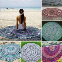 Round beach tables - Indian Mandala Tapestry Bohemian Hippie Bikini Beach Cover Ups Beach Towel Beachwear Beach Sarongs Shawl Yoga Mat Table Cover CCA5615