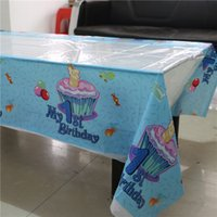 Wholesale boy st birthday disposable plastic blue tablecover cm tablecloth map for kids happy birthday party tableware