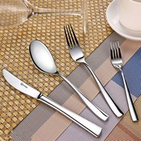 Wholesale Delicate Stainless Steel Flatware Cutlery Set with Mirror Finish Including Fork Spoons Knife Piece Tableware Dinner Set