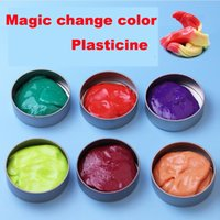 Wholesale New Handgum Heat Sensitive Plasticine Putty of Thinking Silly Putty Temperature Sensing Soil Clay Bounce Mud Toy for Kids THINKING PUTTY DHL