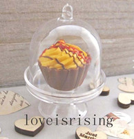 4 Color Pick - 20pcs / lot Mini Clear White Cupcake Boxes Caisses de faveur de mariage pour Lovely Baby Shower Party Supplies