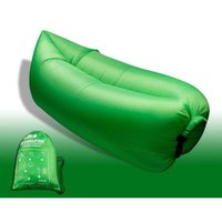 tissu de chaise longue achat en gros de-Fast Inflatable Chair Lounger Air Sleep Camping Sofa Beanbag Beach Nylon Fabric Lounge Lazy Sleeping Bag Bed Outdoor