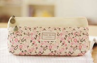 Wholesale PC Kawaii Soft Canvas Pencil Bag Pencil Bags Pen Case Tools For Girls And Kids Students School Office Supplies Accessories