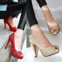 Asakuchi señalaron rojo parte inferior de alta talón zapatos de mujer, rojo, 34