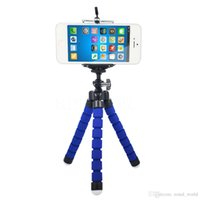 Wholesale 2017 new mini Octopus tripods Universal portable Flexible camera Tripod Stand Mount Bracket Holder Monopod For cell phone camera with clip