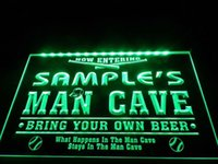 baseball man cave - tm24 Name Personalized Custom Man Cave Baseball Bar Beer Neon Sign hang sign home decor crafts