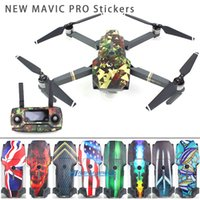 Wholesale DJI MAVIC PRO Quadcopter M Stickers Waterproof Skin Decals Battery Remote Controller Sticker for Sunnylife DJI MAVIC PRO Quadcopter M Stic