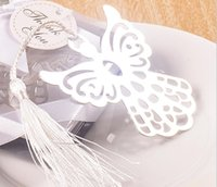 Wholesale 20pcs Special Stainless Steel Angel Bookmark For Wedding Baby Shower Party Birthday Favor Gift CS003