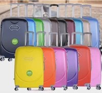 Wholesale Unisex Rolling Luggage Fashion ABS Solid Color Travel Suitcase Password Valise Boarding Suitcase Travel Box color EC