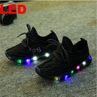 Wholesale Hot Sale Children Boost Casuals Shoes Black Kids LED Luminous Sneakers Boys Running Sports Light up Shoes Baby Girls Shiny Toddler Shoes