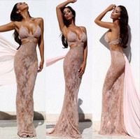 amazing bra - Pink Coral Lace Prom Dresses Amazing Sexy Mermaid Evening Dress Natural beauty Kiss Bridal dress Tight corset Bra