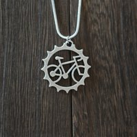 beautiful riding - rider Bicycle pendant necklace Beautiful Unique Charm jewelry outdoor riding friend commemorate witness of friendship