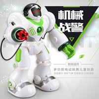 Wholesale Dancing Robot Remote Control Toy Robocop Cool Children Electric Smart Space Walking