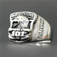 airborne band - UAS st Airborne Eagle Ring L Stainless Steel Jewelry Cool Design Polishing Eagle Biker Ring