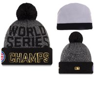 Wholesale By DHL Americas MLB World Series Champions Champs CHICAGO CUBS Baseball Club Beanies Winter Caps Popular Sport KNIT Beanie