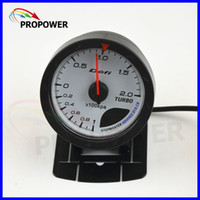 Wholesale quot MM DF Advance CR Gauge Meter Turbo Boost Gauge BAR White Face With Sensor AUTO GAUGE