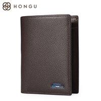 bifold wallet vertical - Hongu Mens Simple Bifold Wallet Black Brown vertical or horizontal size H10505802