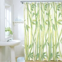 bamboo ring curtains - 180 x cm Bamboo Forest Waterproof Fabric Bathroom Shower Curtain With Curtain Hooks Rings