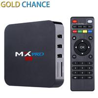 Wholesale MX Pro Android TV Box MXPRO Amlogic S905 Quad Core DDR3 G Nand Flash G HDMI