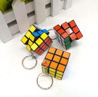 Wholesale Cheap CM Min Puzzle Magic Cube Keyring Mini Puzzle Keychain Intelligence toy for Men Women Fancy gift