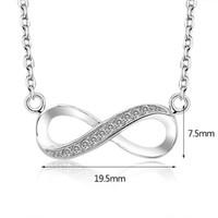 al por mayor encantos símbolo de infinito-2017 de alta calidad de plata esterlina 925 Infinito Amor infinito símbolo de collar de encanto diminuto oro blanco chapado buen regalo presente para las mujeres