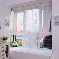 Wholesale Pink Floral Roman Style Window Scarf Sheer Floral Curtain Panel Voile Valances