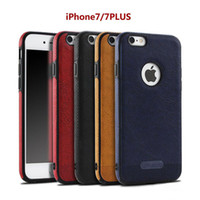 New Business Leather Pattern Stitching Phone Case pour iPhone7plu 6s TPU Soft Shell protection complète Anti-drop Case Vente en gros avec Opp Package