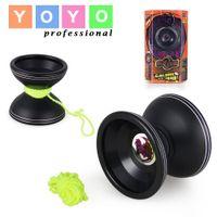 bearing with shaft - Professional Yoyo Magic Yo Yo Ball A A A Black Competition Level Yo Yo with Rope Alloy KK bearing shaft with Package U9933