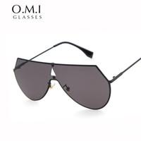 Las mujeres 2016 de los hombres del aviador de las gafas de sol de Eyeline adelgazan los vidrios de sol superiores planos exagerados del diseñador de la marca de fábrica OM244 Freeshipping