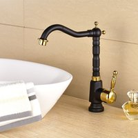 Wholesale Kitchen taps cozinha faucet Antique Brass Swivel Spout Kitchen Faucet Single Handle Vessel Sink Mixer Tap XKX