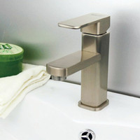 Wholesale Brushed nickel Faucet Bathroom Sink Faucets Vintage One handle lavatory faucet Box Hot cold water Mixer tap washbasin Sanitary Ware