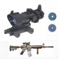airsoft sights cheap - Hot sell cheap Hunting Tactical Riflescope ACOG Type x32 Red Green Dot Rifle Sight Scope With mm Mount Airsoft WQM132