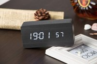 Wholesale Top Sale Quality Digital LED Alarm Clock Sound Control Wooden Despertador Desktop Clock USB AAA Powered Temperature Display Hours