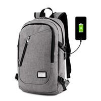 Wholesale Men Polyester Solid Big Shool Book Backpack for Teenager Preppy Style Boy Back Shoulder Bag Big Capacity Laptop Bags