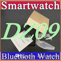 Wholesale 10X DZ09 Smart Watch GT08 A1 U8 Wrisbrand Android iPhone For SIM Intelligent Mobile Phone Watch Sleep State Smart watch Retail Package B BS