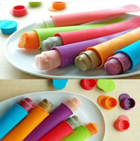 Wholesale DIY Silicone Push Up Ice Cream ice Lolly Pop Maker Popsicle Mould Colors DHL Shipping Free
