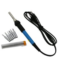 Wholesale W V Electric Adjustable Temperature Welding Solder Soldering Iron Welding Tool with Iron Tips with welding wire