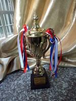 basketball cups - Custom metal cup football trophy Basketball badminton sports cup Free printing