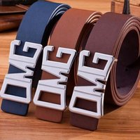 Wholesale 2016 Fashion Cowskin Leather Premium OMG Shape Metal Mens strap man Ceinture Buckle brand men luxury belts male