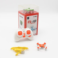 Wholesale New Original Cheerson CX CX10 Mini Drone G CH Axis LED RC Quadcopter Toy Helicoptero with LED light Toys for Children
