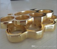 Wholesale new THICK THICK mm BRASS KNUCKLES KNUCKLE DUSTER Gold silver