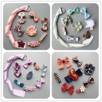 Barrettes baby gift packages - New Baby girls Children s women hair clips bowknot hair clips with gift package