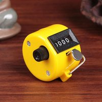 Wholesale Hand Tally Counter metal counter digit Manual counters Pressing the manual counter People Counting Yellow A391