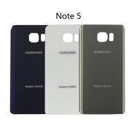 оптовых samsung назад корпус-Original Note5 Задняя крышка Стеклянный кожух Крышка батареи Крышка стеклянной двери для примечания 5 галактики Samsung N920 N920F Back Glass Свободная перевозка груза